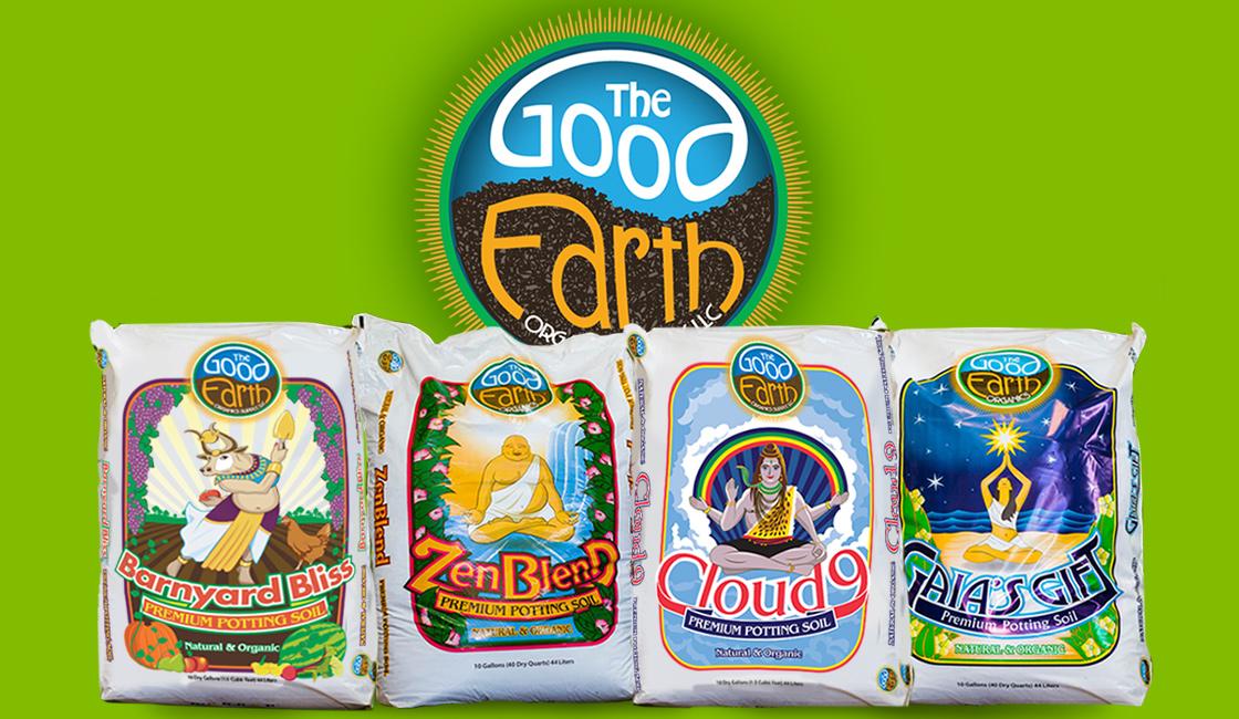 The Good Earth Organics Soil Company Custom Illustrated Package Design