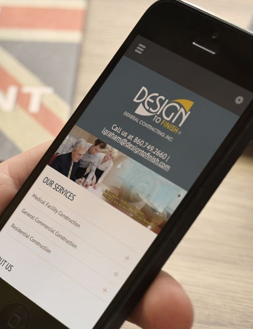 design to finish responsive website design mobile view