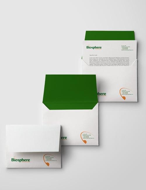 Envelopes, business cards and letterhead design
