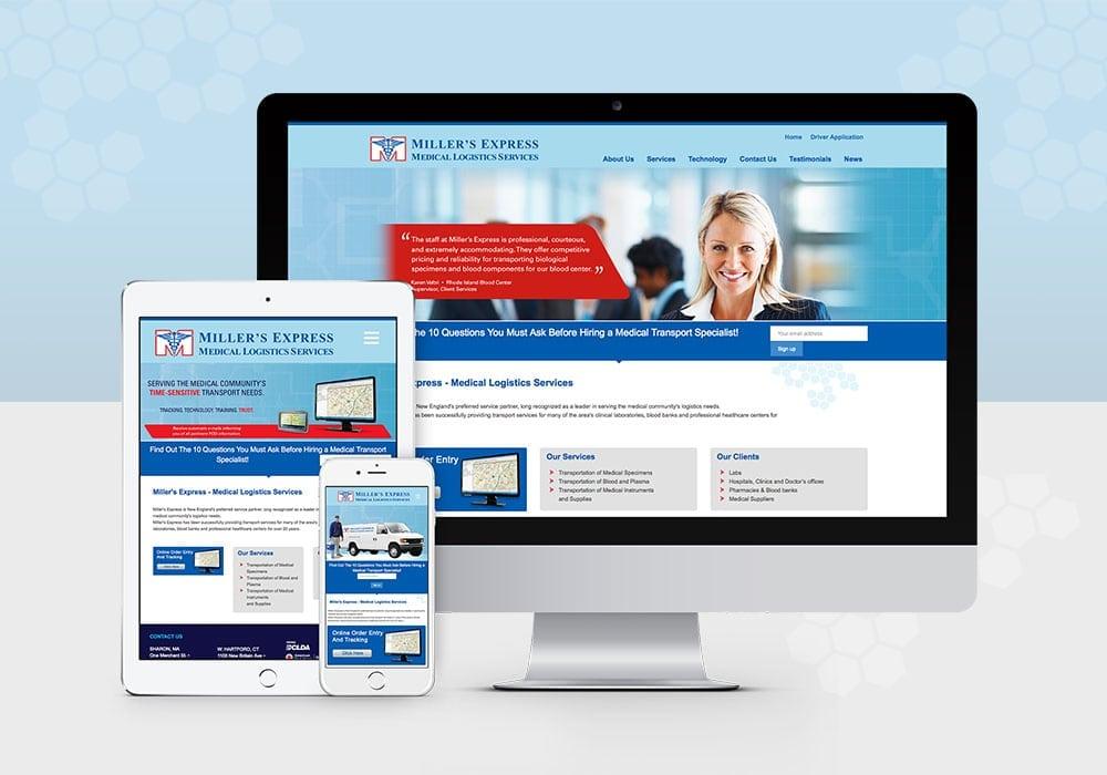 Millers Express Responsive Website Design