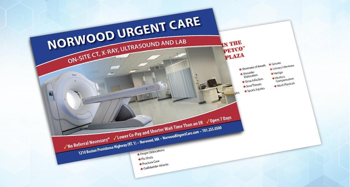 norwood urgent card direct mail postcard