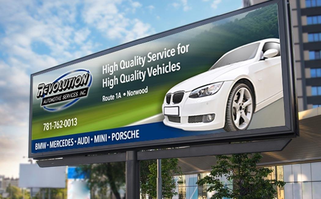 revolution auto digital billboard