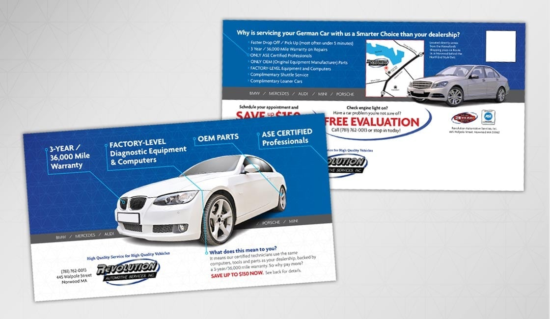 revolution auto direct mail