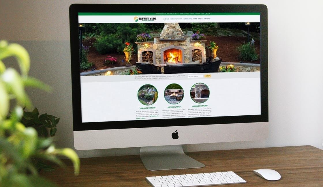 sam white and sons website design