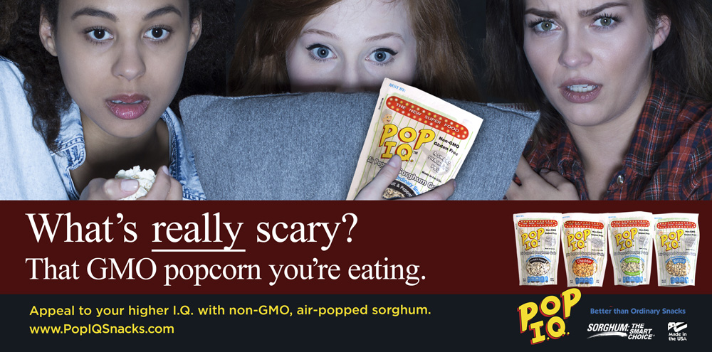 Pop IQ Snacks Creative Advertising