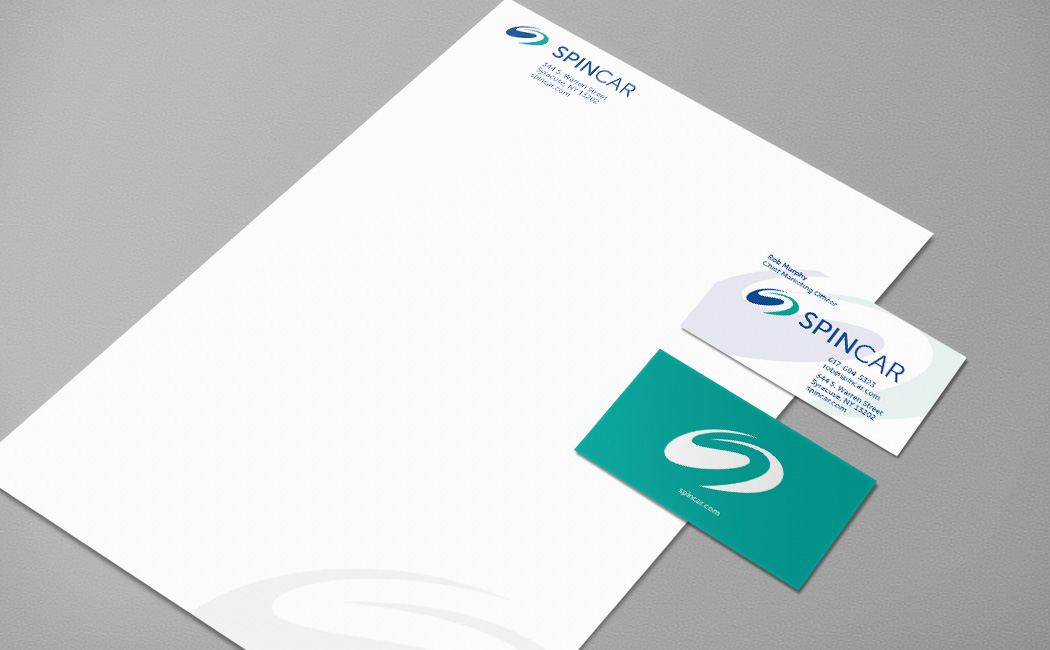 spincar branding package business cards