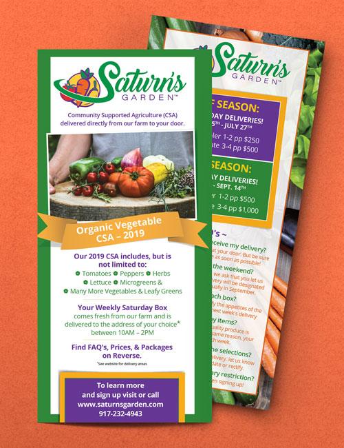 saturns garden rack card