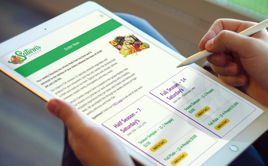 saturns garden responsive website design
