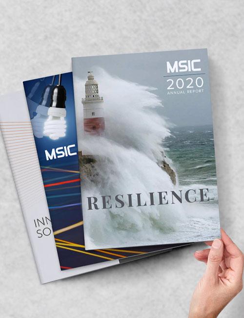 Marketing Design Firm Annual Report Brochure
