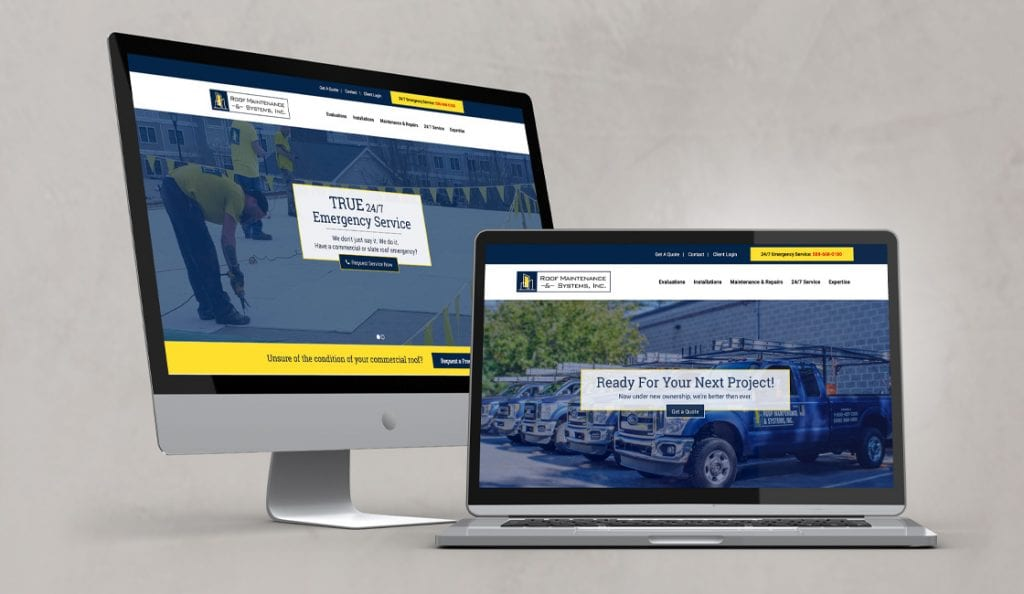 roof maintenance systems inc responsive website