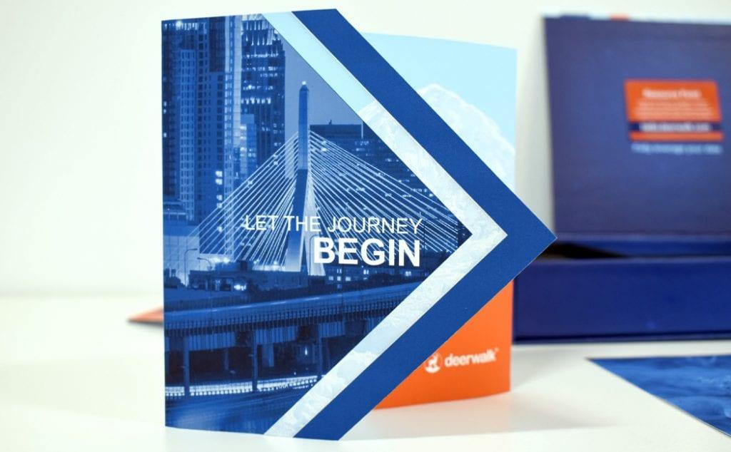 custom die cut brochure design