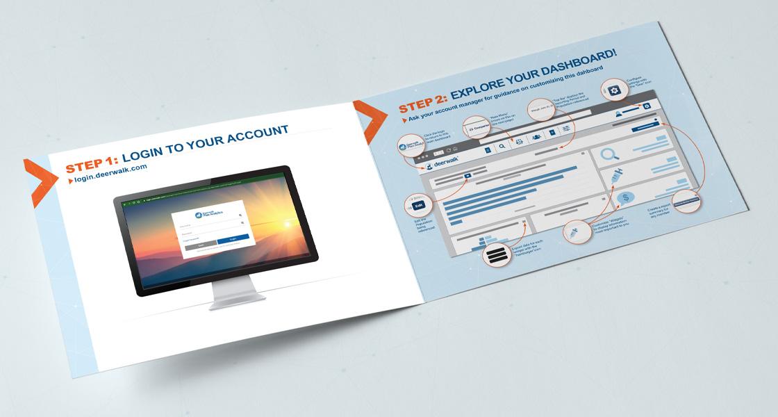 deerwalk quickstart guide bi-fold brochure design