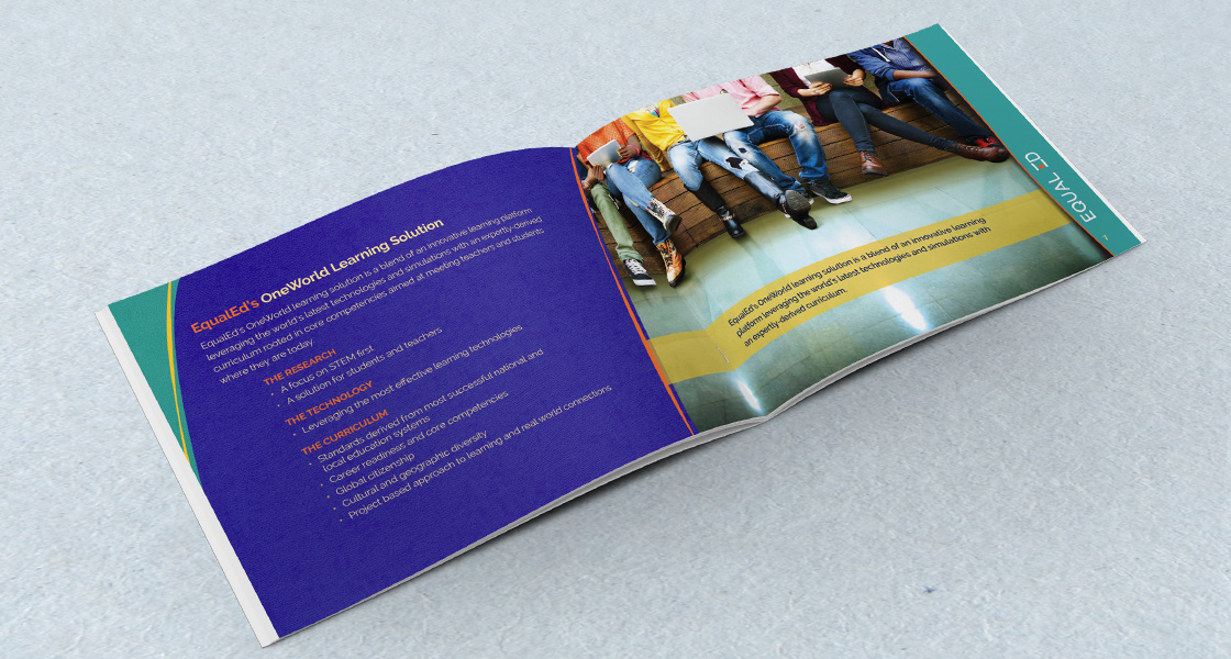 Beautiful, custom designed brochure and graphics for educational corporate client