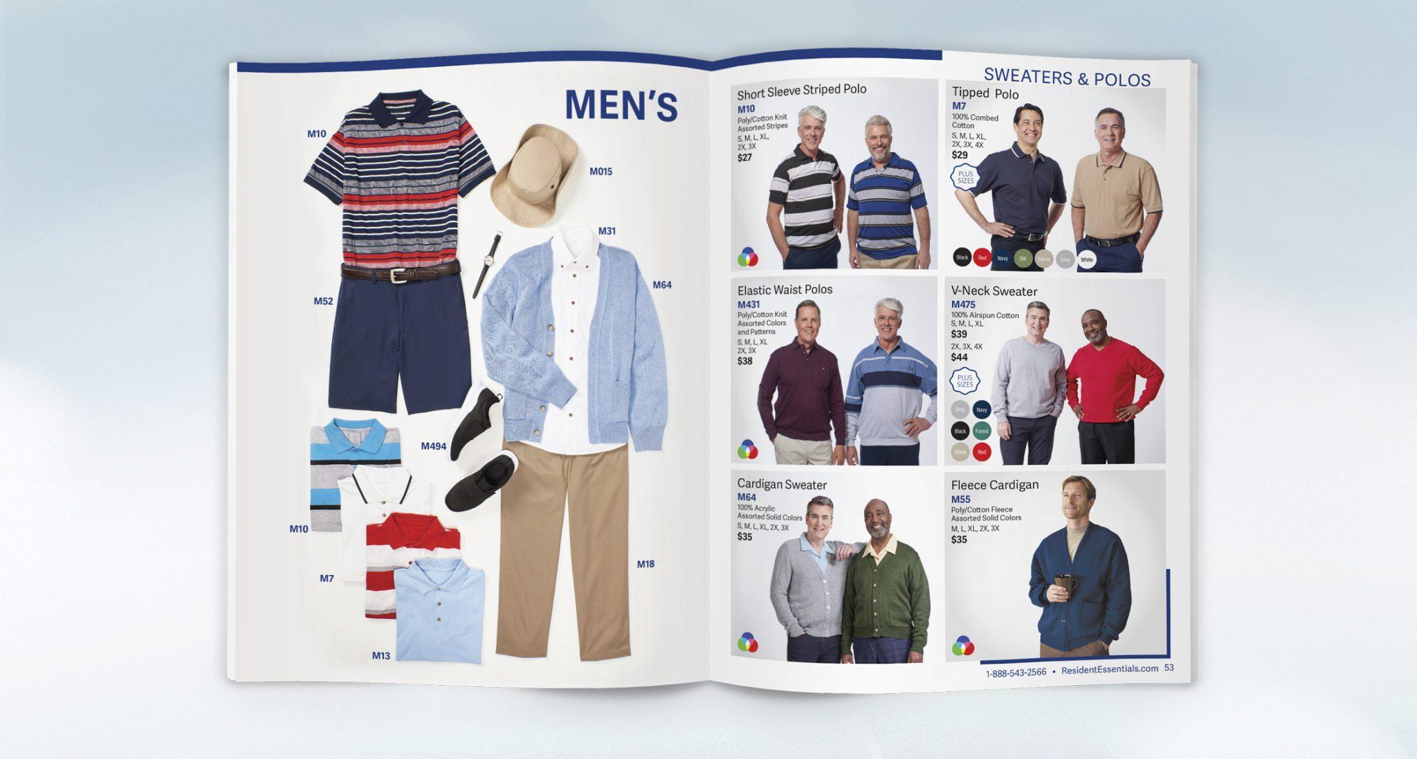 Professional Catalog Design for Resident Essentials Clothing