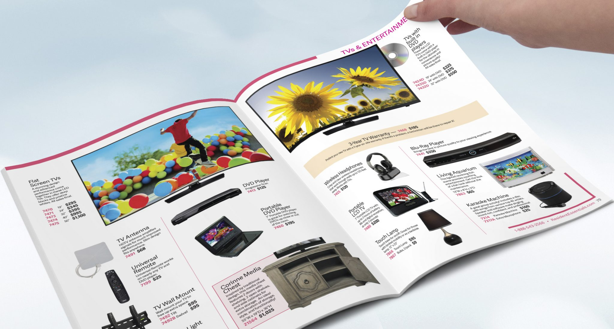Resident Essentials Clothing | Furniture | Electronics Catalog Design
