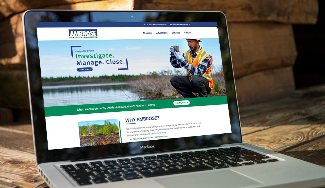 ambrose environmental management responsive website